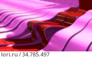 Abstract background with realistic waves lines. Red bend lines in... Стоковое фото, фотограф Zoonar.com/Roman Budnikov / easy Fotostock / Фотобанк Лори
