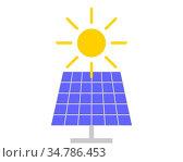 Sonne und Solarkraftanlage auf weiss - Sun and solar collector on... Стоковое фото, фотограф Zoonar.com/lantapix / easy Fotostock / Фотобанк Лори