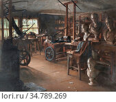 Pratt Jonathan - James Watt's Work Room Heathfield Hall - British... Редакционное фото, фотограф Artepics / age Fotostock / Фотобанк Лори