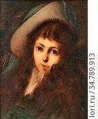 Herbo Leon - Portrait De Jeune Fille Au Chapeau - Belgian School - ... Редакционное фото, фотограф Artepics / age Fotostock / Фотобанк Лори