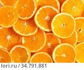 Texture of round slices of ripe juicy orange. Organic food frame.... Стоковое фото, фотограф Zoonar.com/Danko Natalya / easy Fotostock / Фотобанк Лори