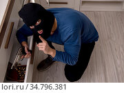 Camera view of male robber stealing things. Стоковое фото, фотограф Elnur / Фотобанк Лори
