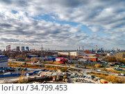 Industrial area of the big city. Стоковое фото, фотограф Андрей Радченко / Фотобанк Лори