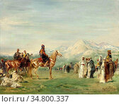 Fromentin Eugène - Campement Arabe Dans Les Montagnes De L 'atlas... Стоковое фото, фотограф Artepics / age Fotostock / Фотобанк Лори