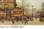 Galien-Laloue Eugene - La Gare De L'est 2 - French School - 19th ... Стоковое фото, фотограф Artepics / age Fotostock / Фотобанк Лори