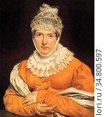 Gericault Théodore - Portrait of Madame Récamier - French School - ... Стоковое фото, фотограф Artepics / age Fotostock / Фотобанк Лори