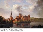 Dahl Johan Christian Clausen - Frederiksborg Castle 2 - Norwegian... Редакционное фото, фотограф Artepics / age Fotostock / Фотобанк Лори