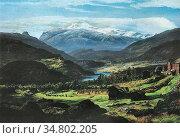 Dahl Johan Christian Clausen - Hjelle in Valdres - Norwegian School... Редакционное фото, фотограф Artepics / age Fotostock / Фотобанк Лори