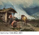 Ender Axel Hjalmar - Summer Mountain Farming in Briksdalen - Norwegian... Редакционное фото, фотограф Artepics / age Fotostock / Фотобанк Лори
