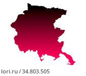 Karte von Friaul-Julisch Venetien - Map of Friuli-Venezia Giulia. Стоковое фото, фотограф Zoonar.com/Robert Biedermann / easy Fotostock / Фотобанк Лори