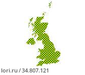 Karte von Grossbritannien in Schachbrettmuster - Map of Great Britain... Стоковое фото, фотограф Zoonar.com/lantapix / easy Fotostock / Фотобанк Лори