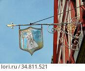 Wolframs-eschenbach, schild, alte vogtei, vogtei, wirtshausschild... Стоковое фото, фотограф Zoonar.com/Volker Rauch / easy Fotostock / Фотобанк Лори