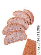 Delicious bread on a white background. Стоковое фото, фотограф Zoonar.com/Yeko Photo Studio / easy Fotostock / Фотобанк Лори