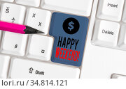 Conceptual hand writing showing Happy Weekend. Concept meaning something... Стоковое фото, фотограф Zoonar.com/Artur Szczybylo / easy Fotostock / Фотобанк Лори