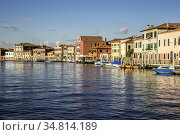 The picturesque island of Murano in the Venetian Lagoon is interwoven... Стоковое фото, фотограф Zoonar.com/Pavel REZAC / easy Fotostock / Фотобанк Лори