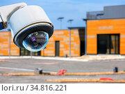 Security CCTV camera or surveillance system with construction site... Стоковое фото, фотограф Zoonar.com/Morad HEGUI / easy Fotostock / Фотобанк Лори