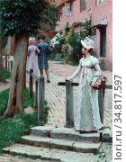 Leighton Edmund Blair - Sally - British School - 19th Century. Редакционное фото, фотограф Artepics / age Fotostock / Фотобанк Лори
