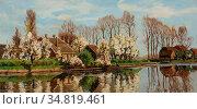 Bastert Syvert Nicolaas - Als De Winterjannen Bloeien - Dutch School... Редакционное фото, фотограф Artepics / age Fotostock / Фотобанк Лори