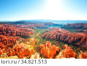 Amazing Bryce Canyon, unusual Utah landscapes, USA. Стоковое фото, фотограф Zoonar.com/Galyna Andrushko / easy Fotostock / Фотобанк Лори