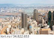 Aerial view of Osaka skyline building Cityscape Japan. Стоковое фото, фотограф Zoonar.com/Vichaya Kiatying-Angsulee / easy Fotostock / Фотобанк Лори