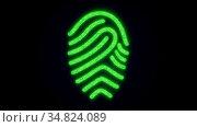 Fingerprint of shining particles. Computer generated web background... Стоковое фото, фотограф Zoonar.com/Roman Budnikov / easy Fotostock / Фотобанк Лори