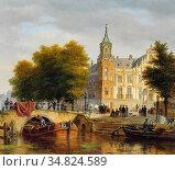 Hove Bart Van - Vue D'une Ville Avec Un Canal Et Des Personnages - ... Редакционное фото, фотограф Artepics / age Fotostock / Фотобанк Лори