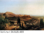Peters Pieter Francis - Alhambra - Dutch School - 19th Century. Редакционное фото, фотограф Artepics / age Fotostock / Фотобанк Лори