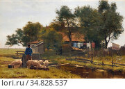 Pieters Evert - the Smallholder - Dutch School - 19th Century. Редакционное фото, фотограф Artepics / age Fotostock / Фотобанк Лори