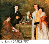 Schwartze Thérèse - Mijn Huisgenoten - Dutch School - 19th Century. Редакционное фото, фотограф Artepics / age Fotostock / Фотобанк Лори