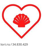 Muschel und Herz - Shell and heart. Стоковое фото, фотограф Zoonar.com/Robert Biedermann / easy Fotostock / Фотобанк Лори