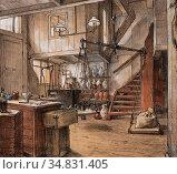 Voorden August Willem Van - De Oude Winkel Van Brown En Heine - Dutch... Редакционное фото, фотограф Artepics / age Fotostock / Фотобанк Лори
