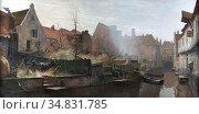 Wolter Hendrik Jan - Westsingel Amersfoort - Dutch School - 19th ... Редакционное фото, фотограф Artepics / age Fotostock / Фотобанк Лори