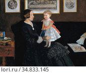 Millais John Everett - Elisa Wyatt and Her Daughter Sarah - British... Редакционное фото, фотограф Artepics / age Fotostock / Фотобанк Лори