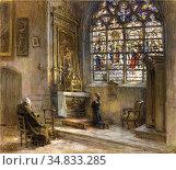 Lhermitte Leon Augustin - La Prière Eglise Saint-Bonnet - French ... Стоковое фото, фотограф Artepics / age Fotostock / Фотобанк Лори