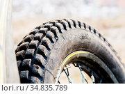 Protector of a motorcycle wheel for off-road ride enduro and trial... Стоковое фото, фотограф Zoonar.com/Ian Iankovskii / easy Fotostock / Фотобанк Лори