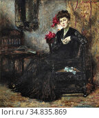 Roelofs Albert - Meditatie - Een Prima Donna in Haar Avondjurk - ... Редакционное фото, фотограф Artepics / age Fotostock / Фотобанк Лори