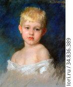 Schwartze Thérèse - Portrait of a Young Boy - Dutch School - 19th... Редакционное фото, фотограф Artepics / age Fotostock / Фотобанк Лори