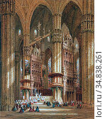 Schafer Henri - Milan Cathedral 2 - French School - 19th and Early... Стоковое фото, фотограф Artepics / age Fotostock / Фотобанк Лори