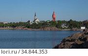 Июльский день на побережье Ханко. Финляндия (2018 год). Стоковое видео, видеограф Виктор Карасев / Фотобанк Лори