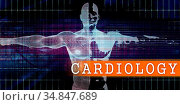 Cardiology Medical Industry with Human Body Scan Concept. Стоковое фото, фотограф Zoonar.com/Kheng Ho Toh / easy Fotostock / Фотобанк Лори