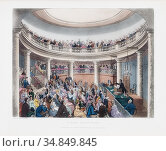 The Surrey Institution. After a work by Thomas Rowlandson and Augustus... Редакционное фото, фотограф Classic Vision / age Fotostock / Фотобанк Лори