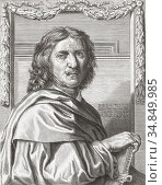 """Nicolas Poussin 1594 â. """" 1665. French artist. After an engraving... Редакционное фото, фотограф Classic Vision / age Fotostock / Фотобанк Лори"""