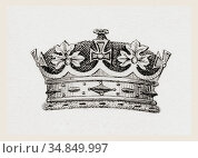 Crown worn by the grandchildren of the English monarch. From The ... (2019 год). Редакционное фото, фотограф Classic Vision / age Fotostock / Фотобанк Лори