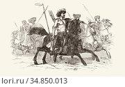Attila the Hun, c. 406 - c. 453. Leader of the Huns who eventually... (2020 год). Редакционное фото, фотограф Classic Vision / age Fotostock / Фотобанк Лори
