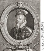 Robert Dudley, 1st Earl of Leicester, c. 1532/1533-1588. English ... Редакционное фото, фотограф Classic Vision / age Fotostock / Фотобанк Лори