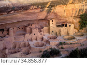 USA, Colorado, Mesa Verde National Park, Cliff Palace,, Стоковое фото, фотограф Christian Heeb / age Fotostock / Фотобанк Лори
