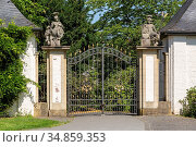 Huenxe, Huenxe-Gartrop-Buehl, Lippe, Niederrhein, Muensterland, Ruhrgebiet... Стоковое фото, фотограф Werner OTTO / age Fotostock / Фотобанк Лори
