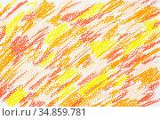 Orange hand drawn texture. Стоковая иллюстрация, иллюстратор Роман Сигаев / Фотобанк Лори
