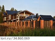 Pomors village Virma in Karelia, Russia. Стоковое фото, фотограф Знаменский Олег / Фотобанк Лори