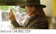 Teenage girl taking photo with mobile phone 4k. Стоковое видео, агентство Wavebreak Media / Фотобанк Лори